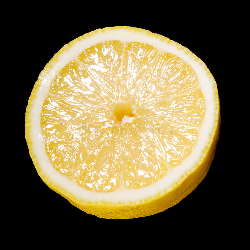 Download Close Up Of A Sliced Lemon Over Black Stock Photos - Image: 27343313