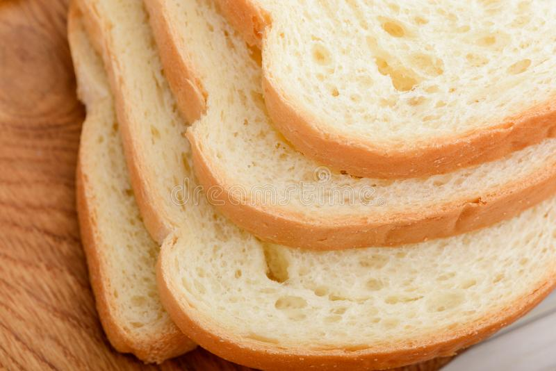 Slices of toast bread stock images