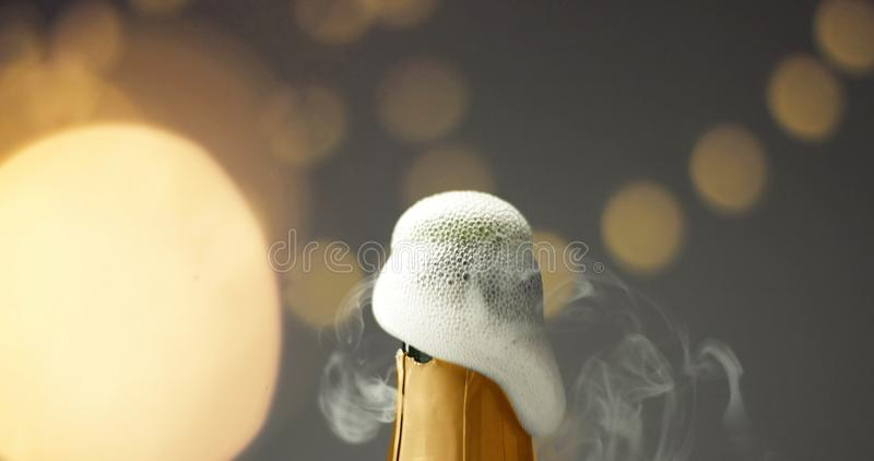 Opening a bottle of champagne royalty free stock images
