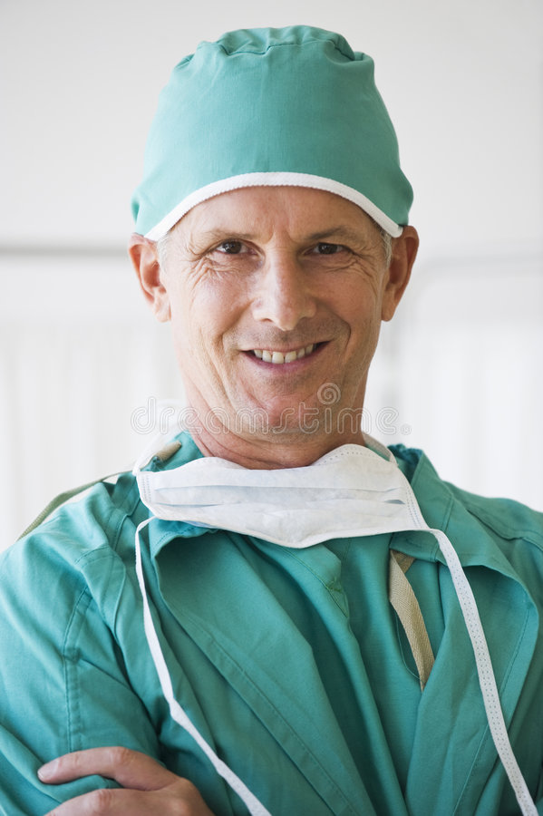 Close up of smiling doctor royalty free stock images