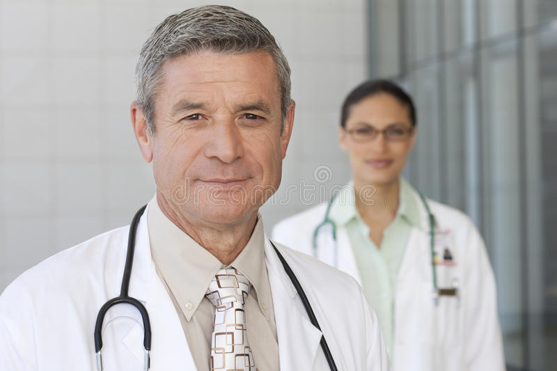 Close Up Of Smiling Male Doctor Royalty Free Stock Photo
