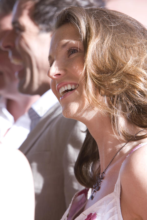 Close up of smiling woman stock images