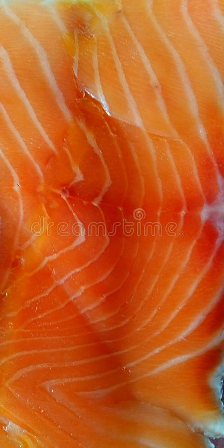 Texture of the meat of salmon close up royalty free stock image