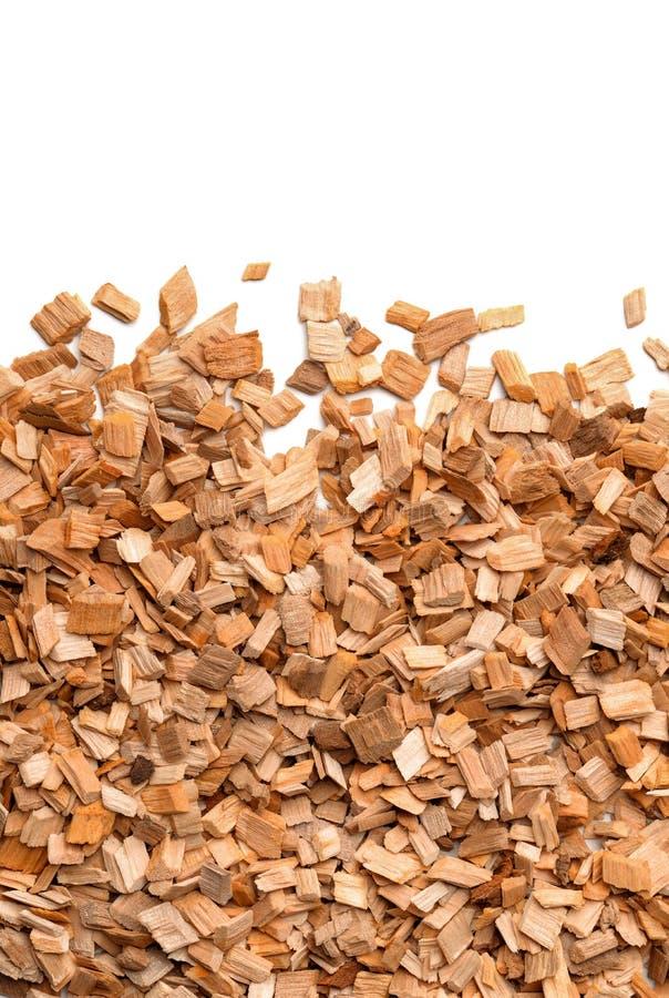 Close up of smoking woodchips royalty free stock photography