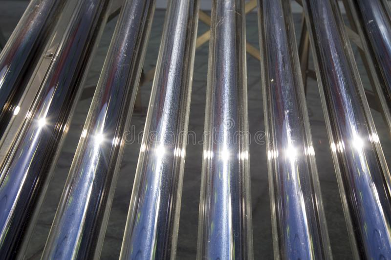 Close up solar heater tubes. Close up of a solar heater tubes, enviroment, ecological, water and save the plantet royalty free stock photography