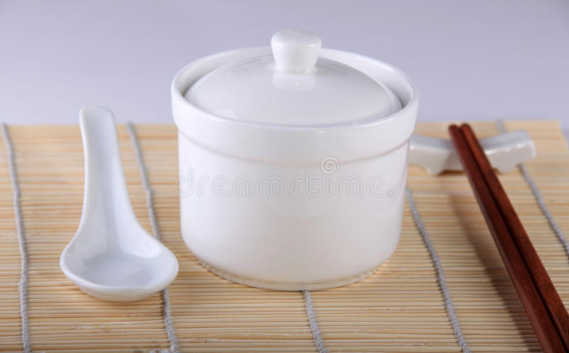 Close-up of some Chinese utensils stock photography