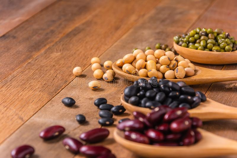 Close-up soy beans royalty free stock photos