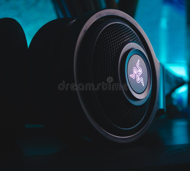Close up of speaker royalty free stock image