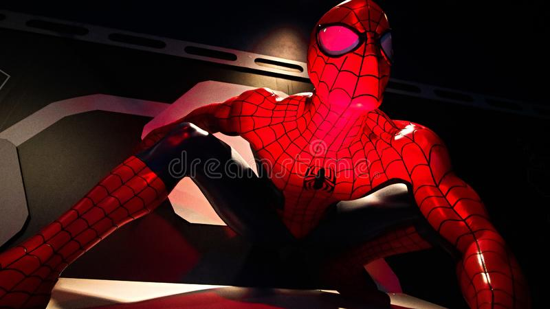 Close up Spider man royalty free stock photography