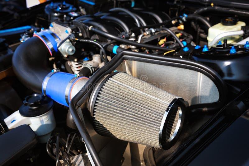 Sport car air filter. Close up of sport car air filter stock image