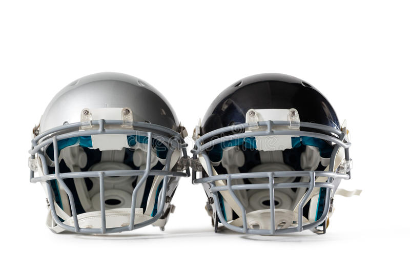 Close up of sports helmets. On white background royalty free stock photos