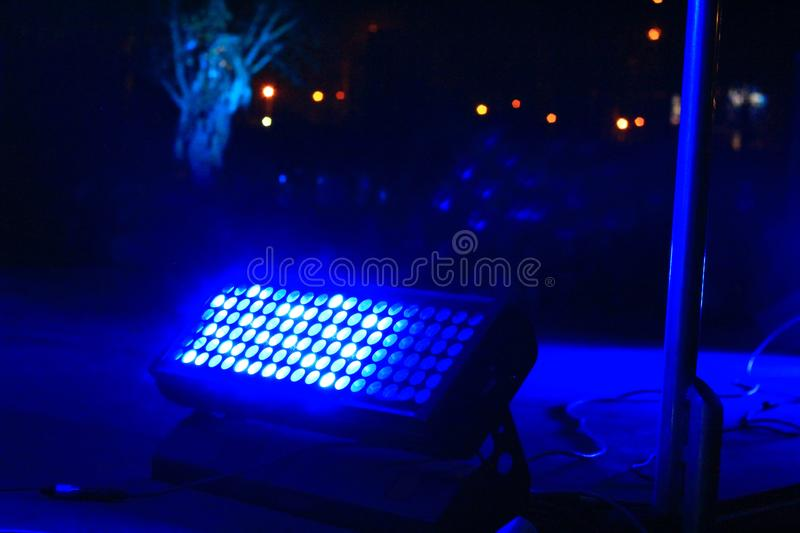 Close up.spotlight on the streets on the eve of Halloween. Photo with copy space royalty free stock photos