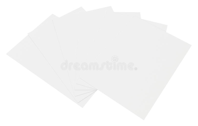 Close up stack of papers on white background. Close up of stack of papers on white background vector illustration