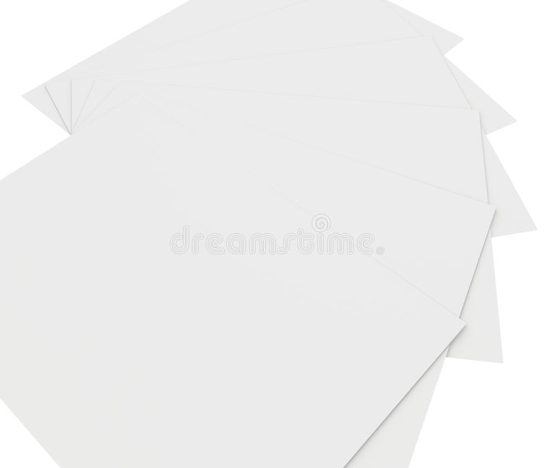 Close up of stack papers. Close up of stack of papers on white background vector illustration