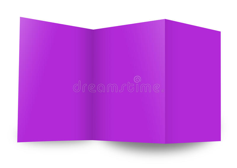Close up of stack. Of papers on white background stock illustration