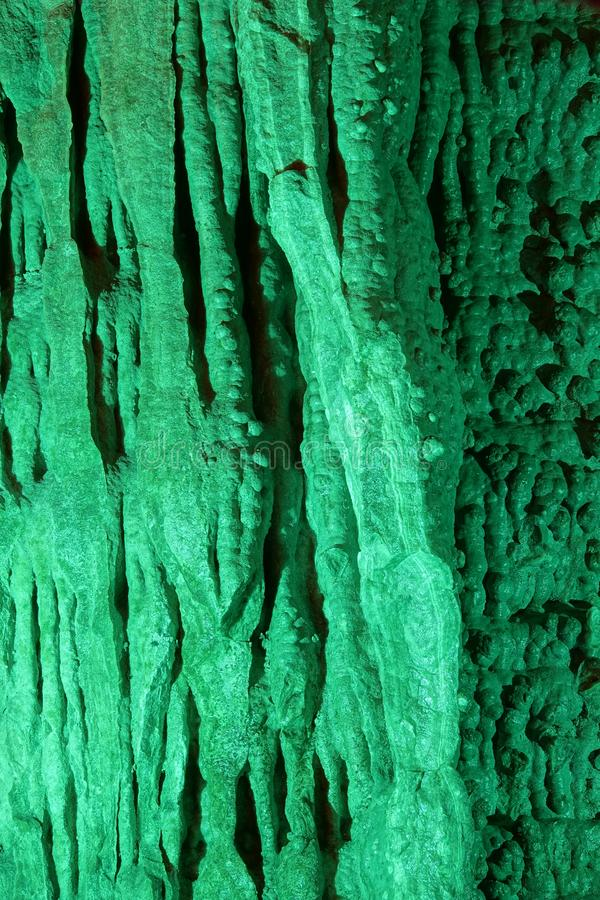 Stalactite. The close-up of stalactite in Yuwang Cave in Xinzhou, Shanxi, China stock photo