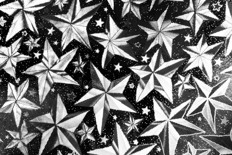 Closeup of stars abstract black and white  background stock images