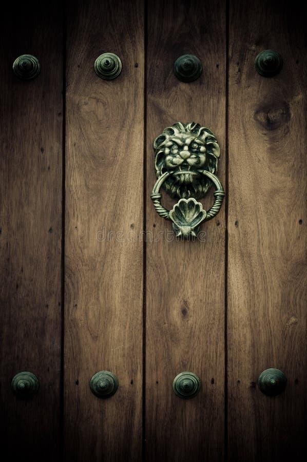 Close-up starzy drzwi Cartagena, Kolumbia zdjęcia stock