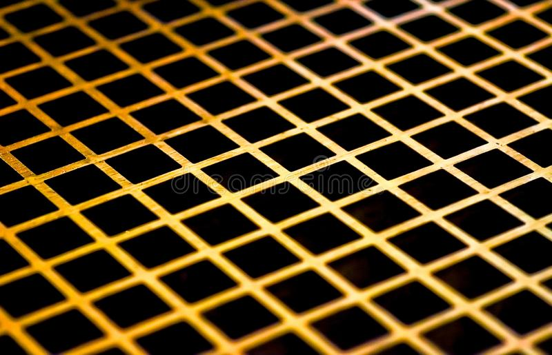 Close up of steel metal gold galvanized royalty free stock photos