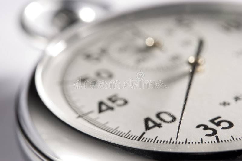Close-Up Of Stop Watch stock images