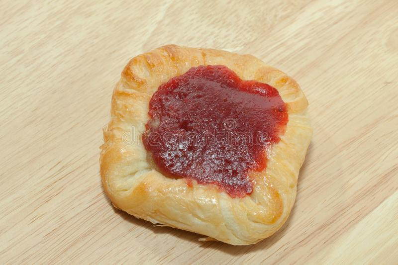 Close up of strawberry danish stock images