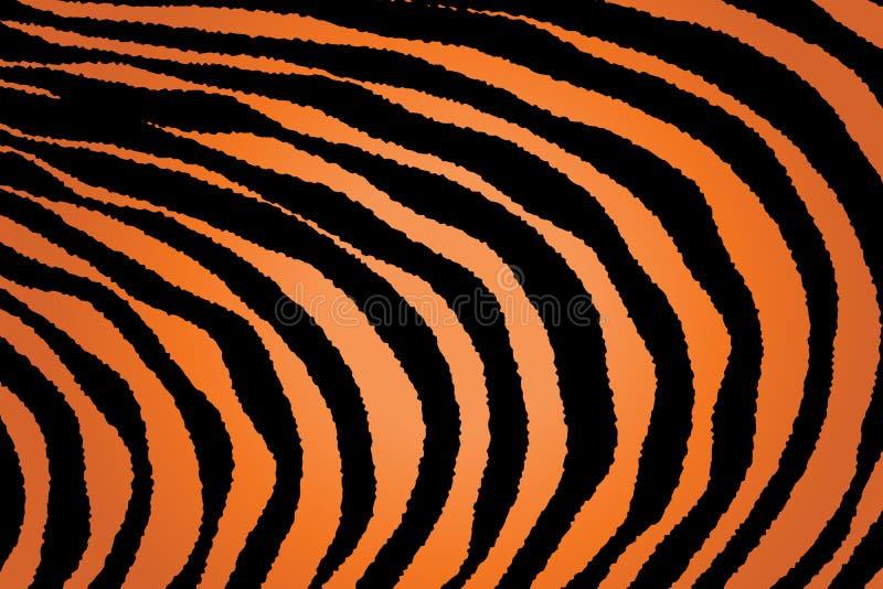 Close up Stripe Animal Pattern royalty free illustration