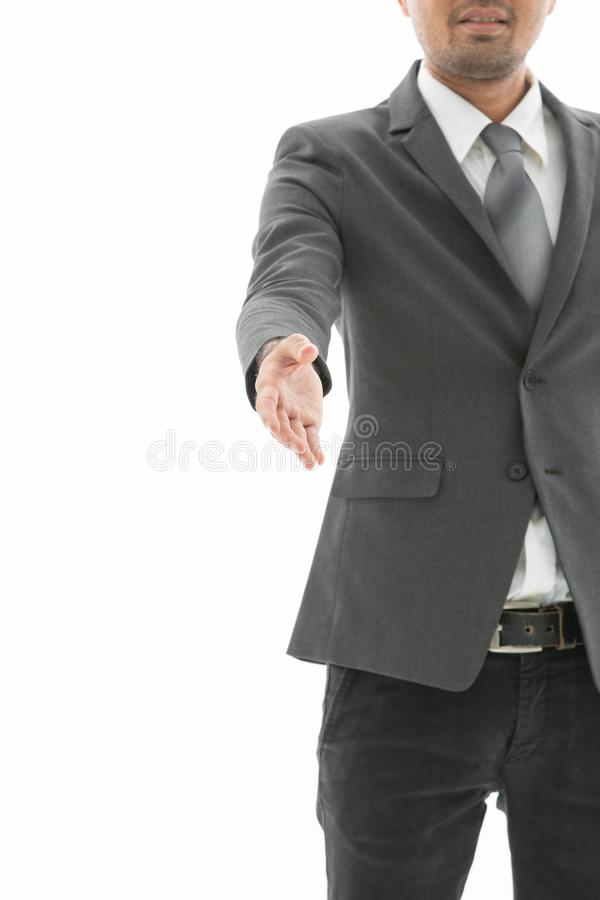 Young business man isolated royalty free stock photos