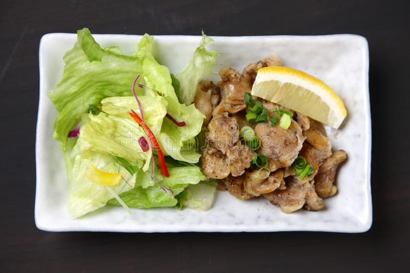 Chicken outside skirt Stir-fry on a dining table stock photography