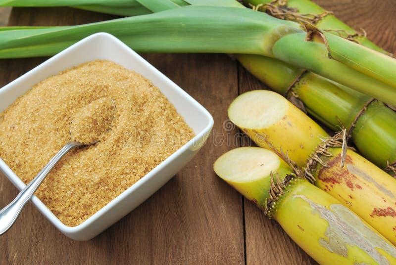 Close Up Sugarcane And Sugar Stock Photo