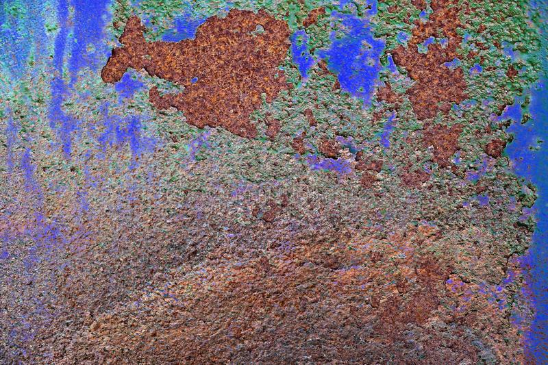 Close up surface of aged and weathered rusty metal surfaces in high resolution. Captured in germany stock photo