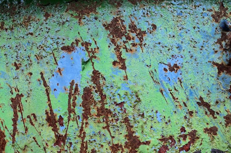 Close up surface of aged and weathered rusty metal surfaces in high resolution. Captured in germany royalty free stock photography