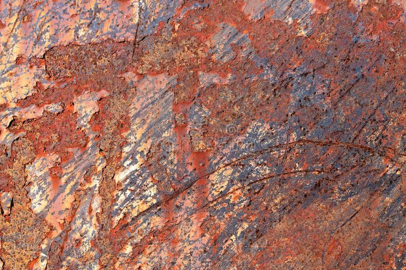 Close up surface of aged and weathered rusty metal surfaces in high resolution. Captured in germany royalty free stock photos