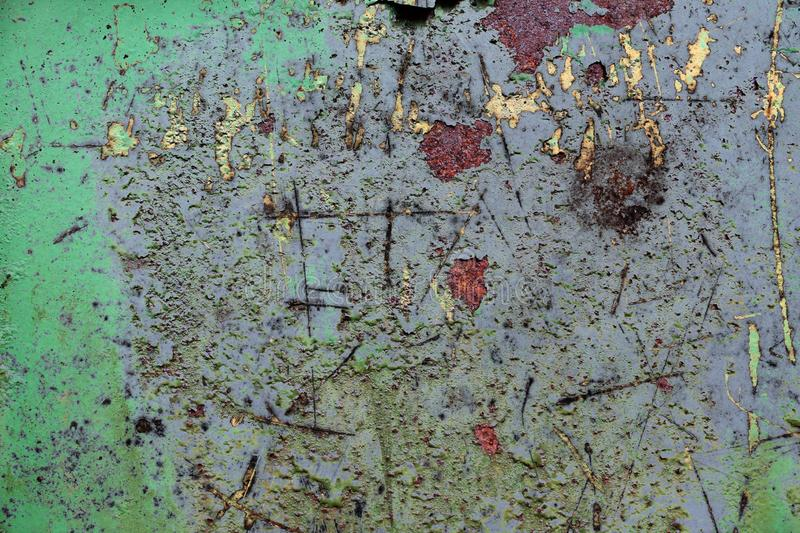 Close up surface of aged and weathered rusty metal surfaces in high resolution. Captured in germany royalty free stock photo
