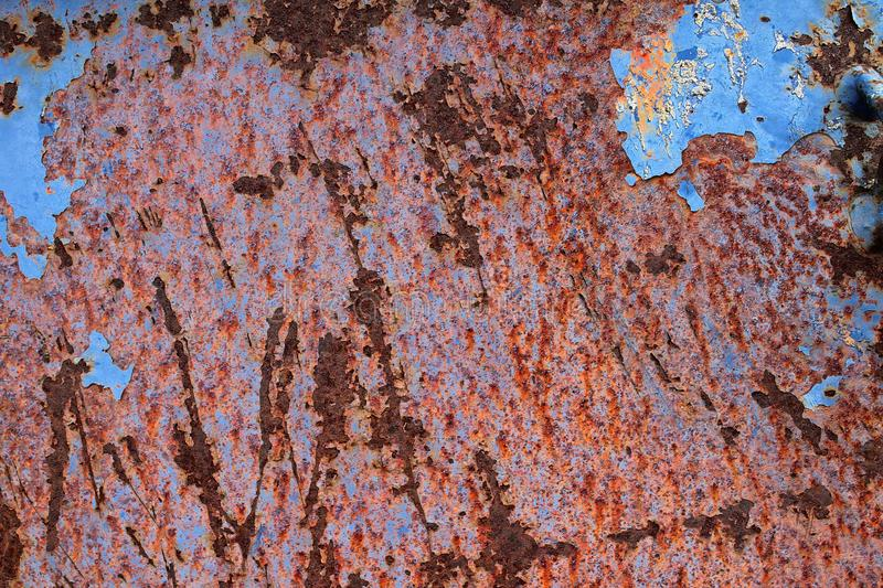 Close up surface of aged and weathered rusty metal surfaces in high resolution. Captured in germany royalty free stock image