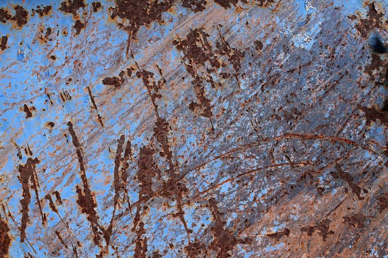 Close up surface of aged and weathered rusty metal surfaces in high resolution. Captured in germany stock image