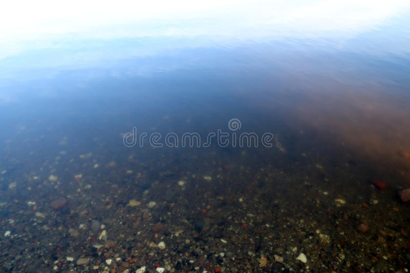 Close up surface of water waves and rings at the beach. And the coast of northern german lakes and the baltic sea stock images