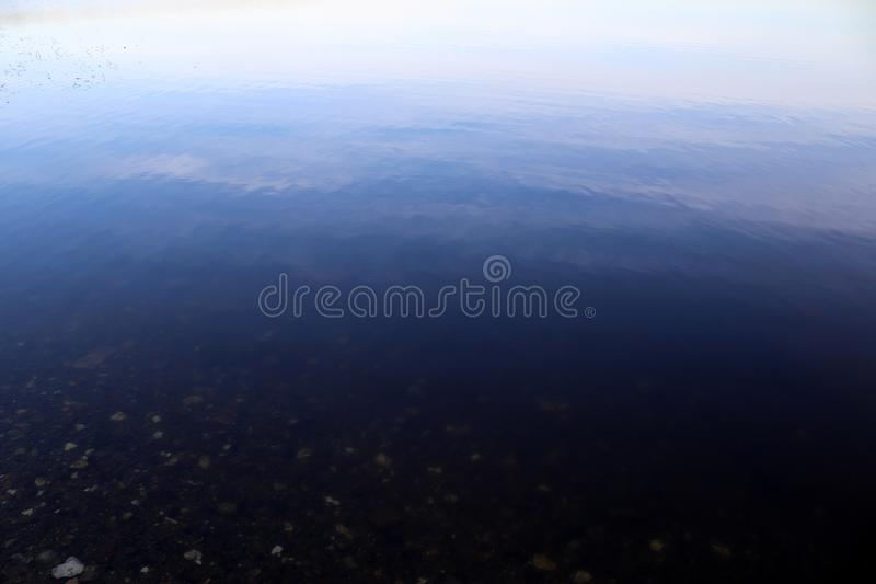 Close up surface of water waves and rings at the beach. And the coast of northern german lakes and the baltic sea royalty free stock images