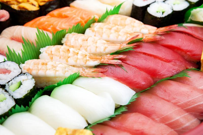 Download Close Up Of Sushi Arranged. Royalty Free Stock Photo - Image: 22897055
