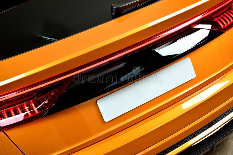 Close-up SUV car with sport and modern design. Environmentally friendly technology. Business success concept. Close-up SUV car with sport and modern design royalty free stock images