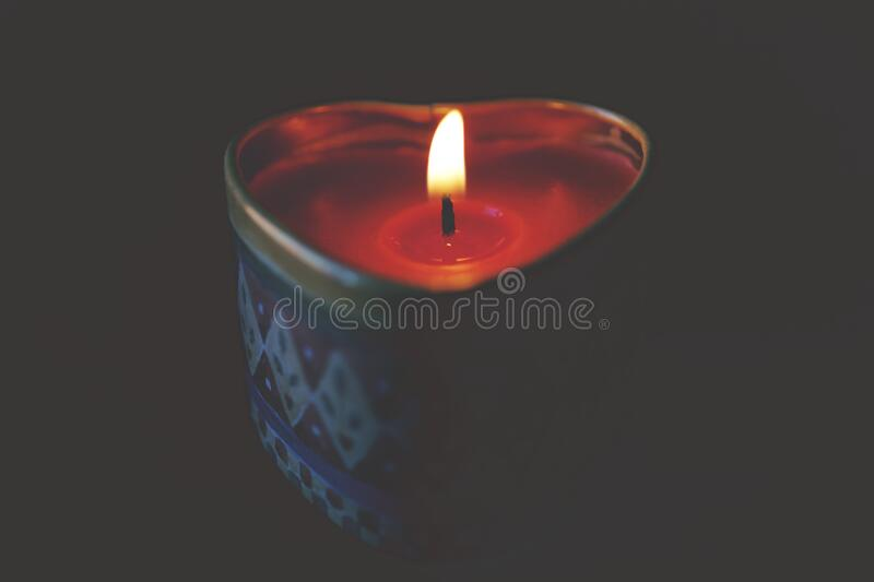 Close-up Of Tea Light Candle Against Black Background Free Public Domain Cc0 Image