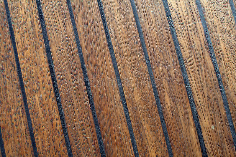 Download Close-up of teak boat deck stock photo. Image of strips - 11496808