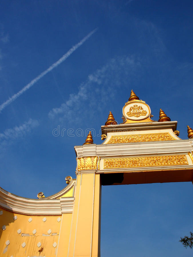 Close-up of Temple Gate stock photo