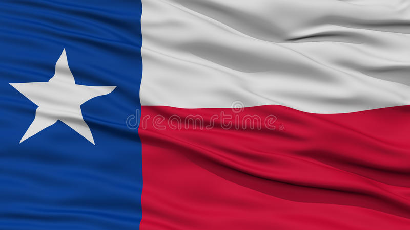 Close-up Texas Flag, de staat van de V.S. royalty-vrije illustratie