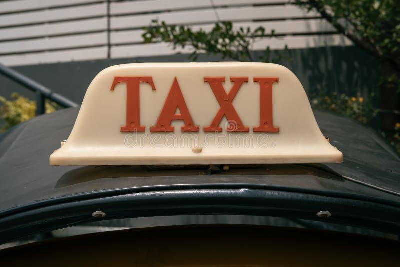 Close Up Text Design Signage Tuk Tuk Taxi Auto Body Parts Bangkok Thailand stock images