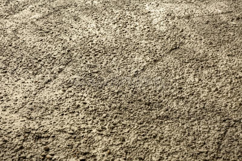 Close up of the texture of fresh poured concrete royalty free stock photos