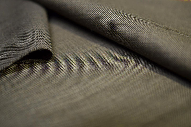Close up texture gold fabric of suit. Photo shoot by depth of field for object royalty free stock photos