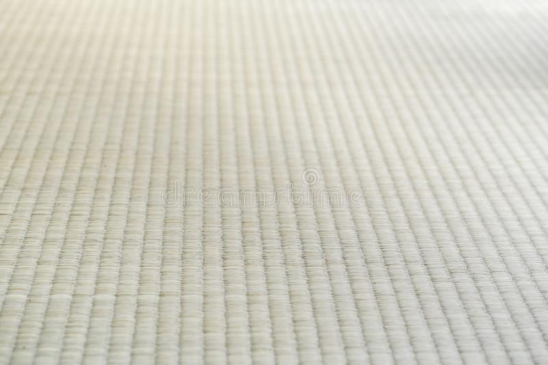 Close up the texture of Japanese traditional Tatami mat in human view stock images