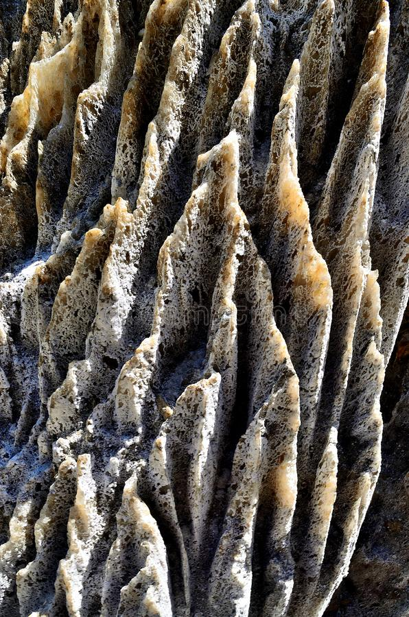 Close-up of texture of Salt Mountain in Sovata. Close-up of interesting natural Texture of Salt Mountain in Sovata, in the middle of Transylvania, Romania stock images