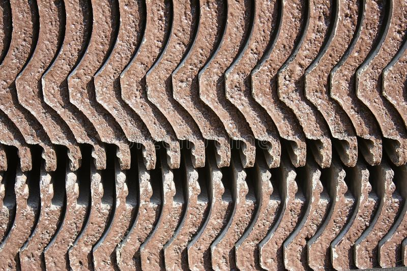 Texture of stacked tiles roof stock images