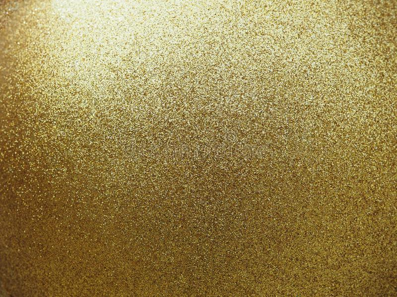 Textured of golden round ball with glitter. royalty free stock photo